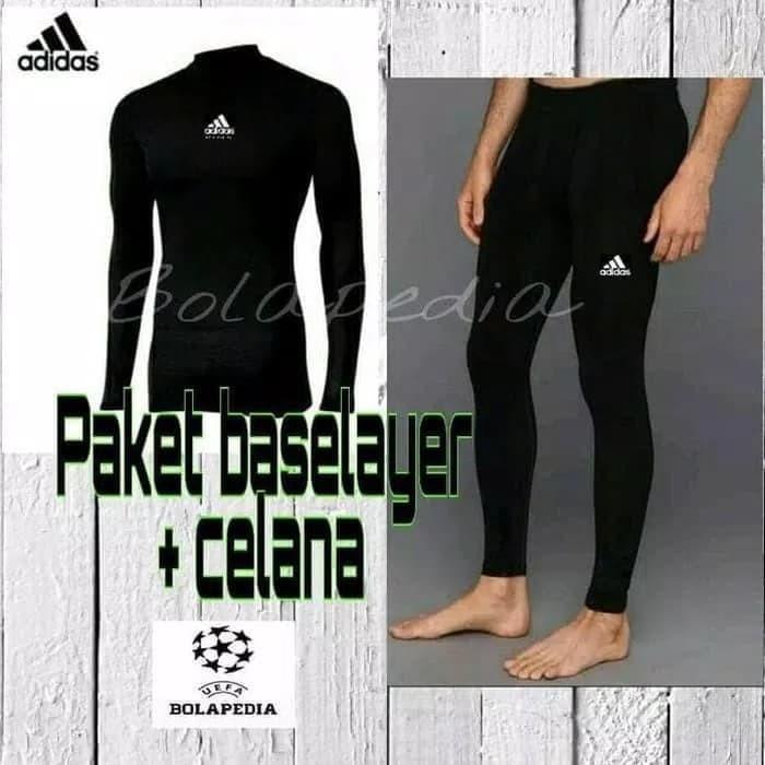 Paket Baselayer Baju Kaos Futsal Manset Celana Legging Pria Wanita Training Gym Renang Diving Kiper Shopee Indonesia