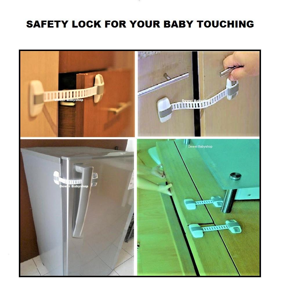 pengaman bayi dari lemari laci kulkas pintu baby safety lock - pengunci kulkas - 1 pack isi 2 pcs   Shopee Indonesia