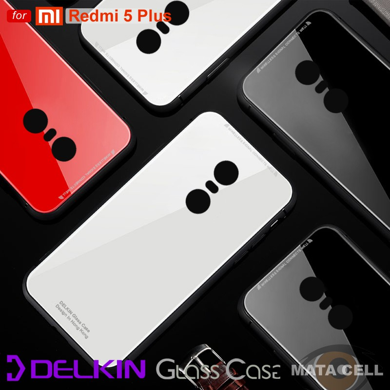 official photos 2f83f 2ff53 Delkin Xiaomi Redmi 5 Plus Premium Glass Case Original 100% Real Tempered  Glass