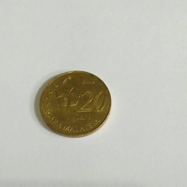 Uang koin 20 sen malaysia /uang kuno