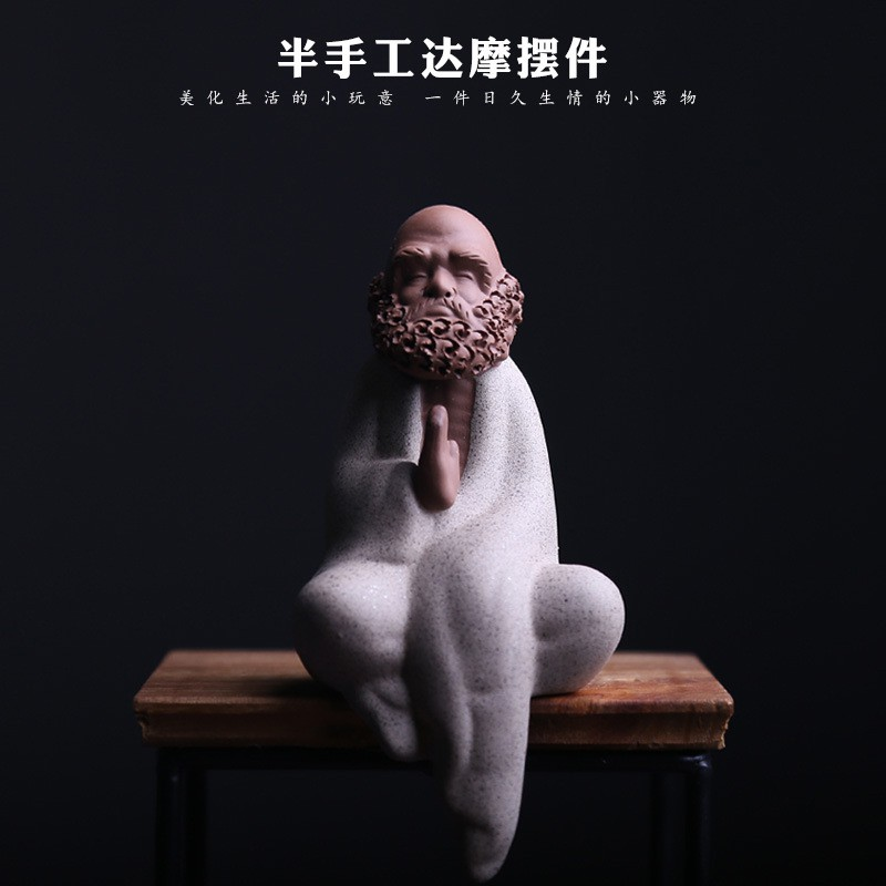 Qq 2 One Baru Zen Buddha Kecil Bahan Keramik Gaya Cina Untuk Dekorasi Shopee Indonesia