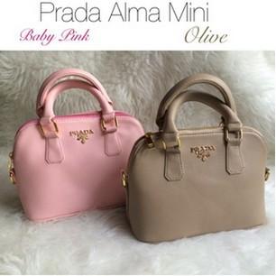 MEOW Tas Import Wanita Korea Style Prada Alma Mini Murah  de7786bb00