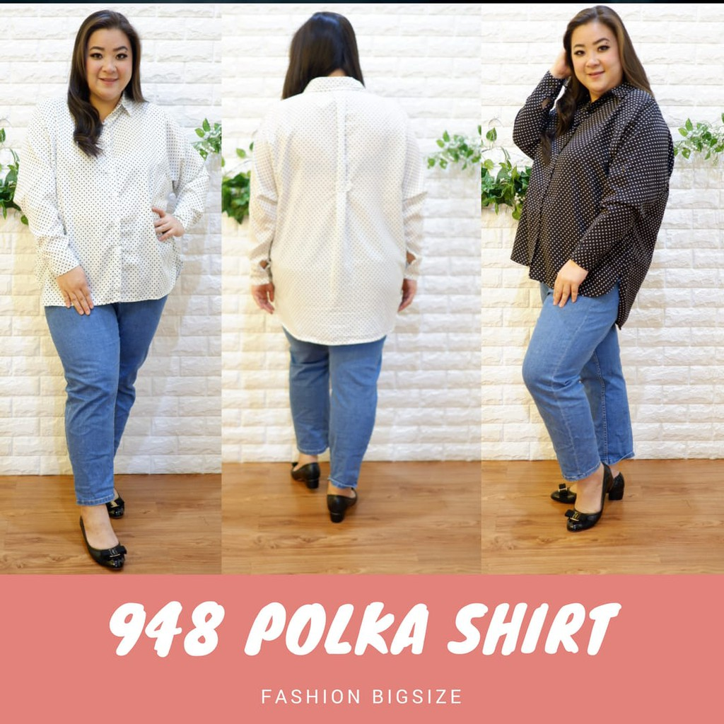 Kemeja Wanita Jumbo Kerja Polos Katun Oversized Fit To Xxl Atasan Bigsize Star Blouse Baju Big Size Shopee Indonesia