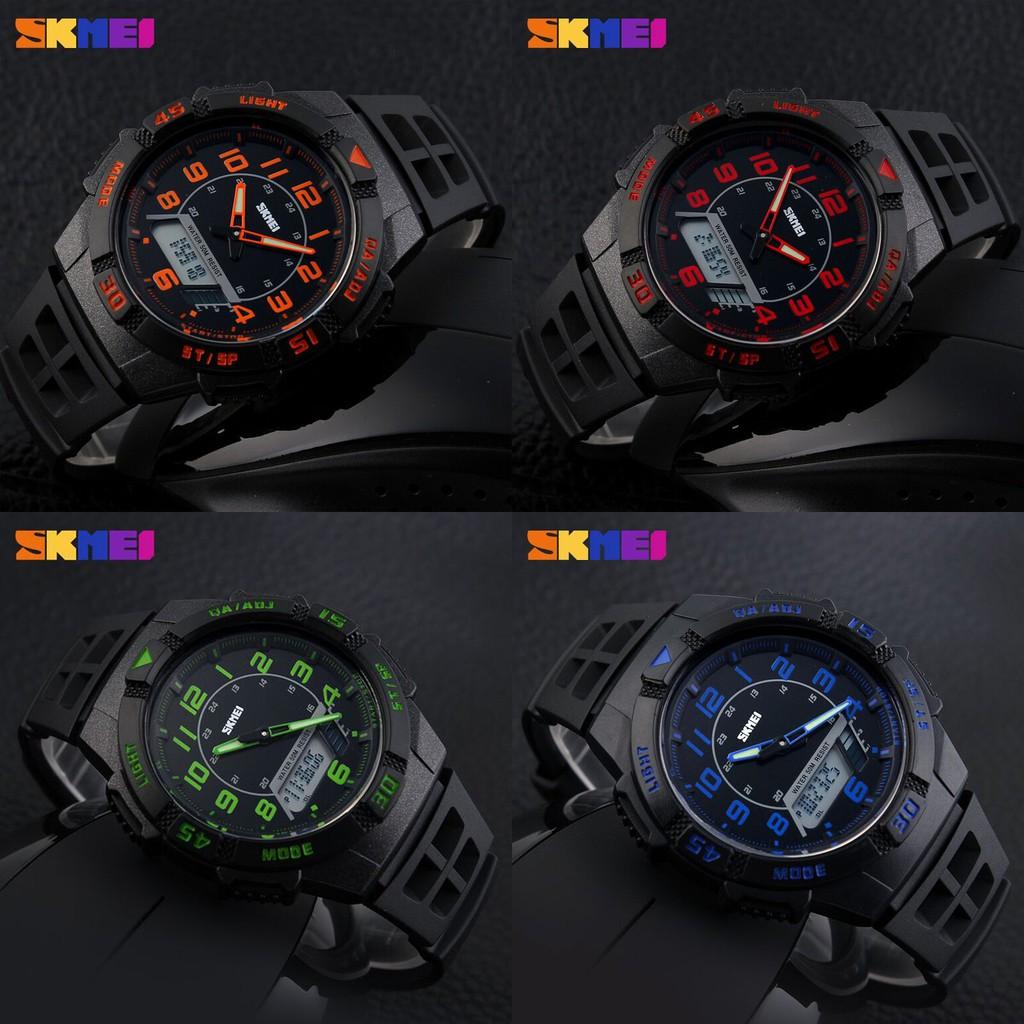 Skmei Casio Men Sport Led Watch Water Resistant 50m Ad1065 S Shock Dg1025 Shopee Indonesia