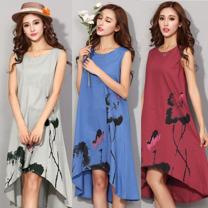 Casual Vintage Dress Long Sleeve  7b22e01f92