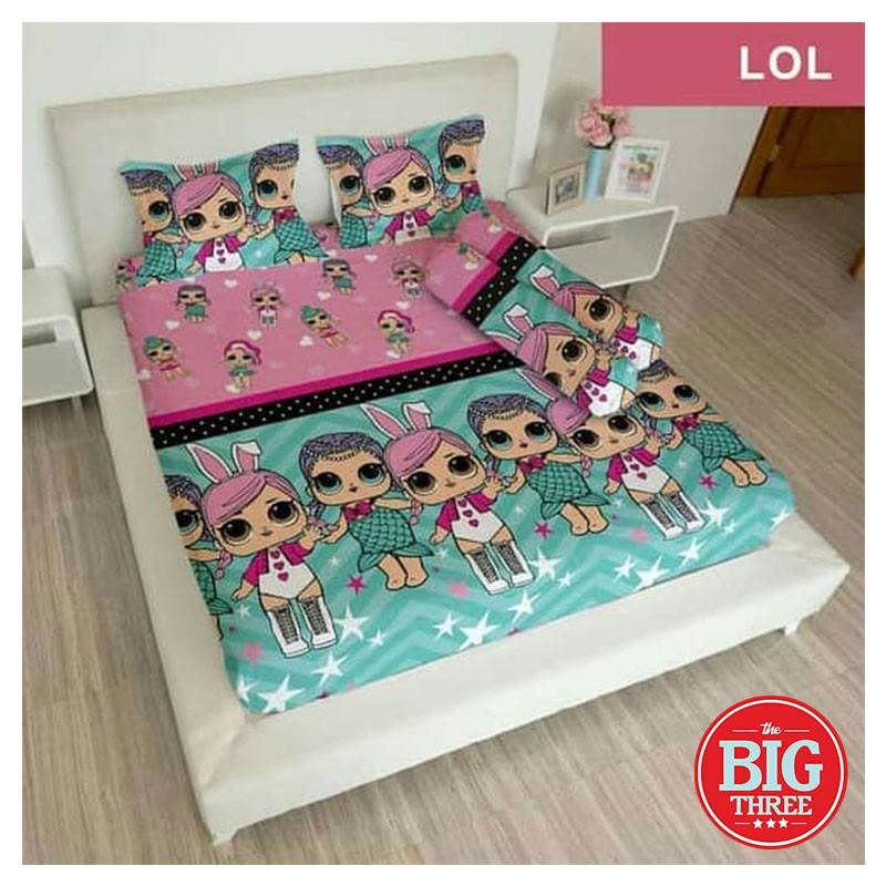 Sprei Lady Rose 180x200 160x200 Motif Lol King 180 Queen 160 Sp Seprai Cewek Anak Lucu L O L Lol Shopee Indonesia