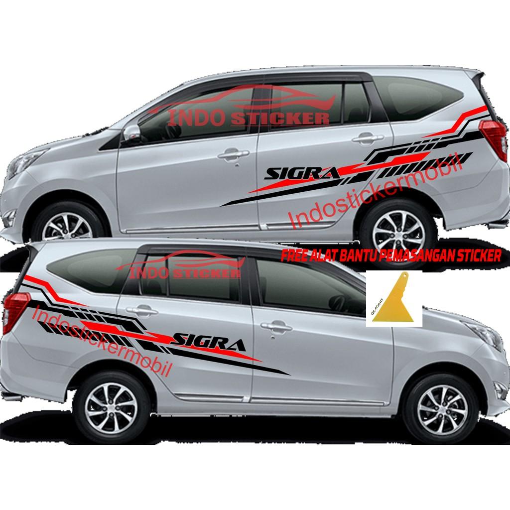 Terbaru Cutting Stiker Mobil Sigra Stiker Sticker Mobil Daihatsu Sigra Calya Keren Shopee Indonesia