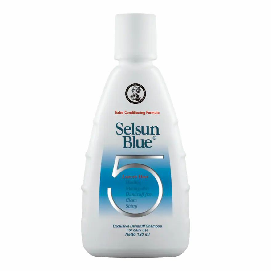 SELSUN Shampoo Conditioner Series / Sampo Anti Ketombe Blue 5 Yellow Gold 7 Herbal Flowers-SELS Blue Five 120ml