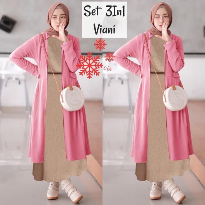 Grosi Fashion Terbaru Gamis Remaja Modern Terbaru 2051 Set Viani Pink Gamis 0100 Sj9 Baju Ga 56ltp Shopee Indonesia