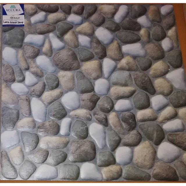 Keramik Batu Alam Mulia Size 40x40 Shopee Indonesia