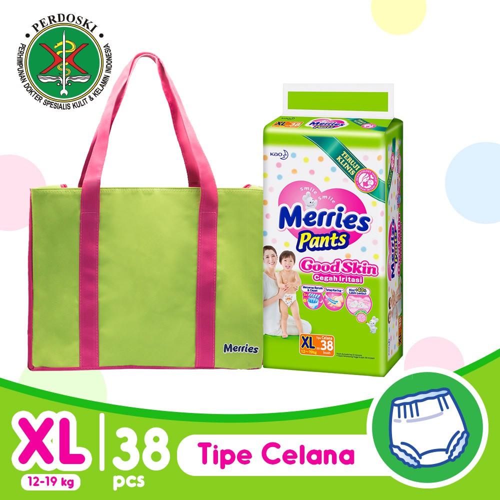 Merries Pants Good Skin Jumbo M 50 L 44 Xl 38 Popok Celana Mamypoko Standar Pulau Jawa Only Pant Ekonomis M50 L44 Xl38 Shopee Indonesia