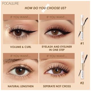 Focallure 2 In 1 Maskara + Eyeliner Anti Air Untuk Hasil Bulu Mata Tebal Dan Lentik 7