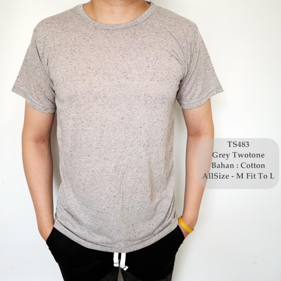 Regular Fit Kaos Casual Printing Tee Logo Dada Abu Shopee Lgs Henley Kantong Satu M Indonesia
