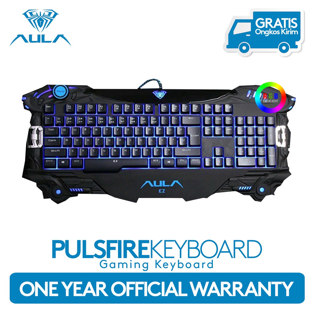 3d10cd34110 AULA Pulsefire Gaming Keyboard Plunger Semi Mechanical | Shopee Indonesia