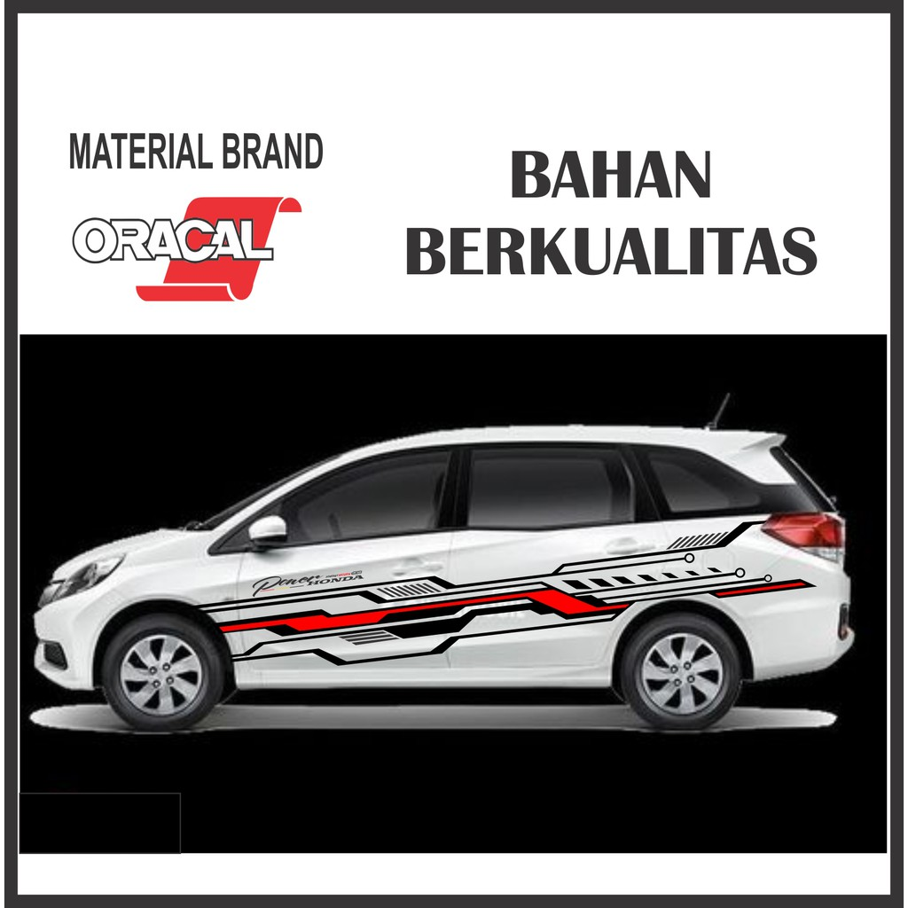 Stiker Sticker Mobil Variasi Cutting Honda Mobilio Avanza Ertiga Xenia Sigra Calya Xpander Terbaru Shopee Indonesia