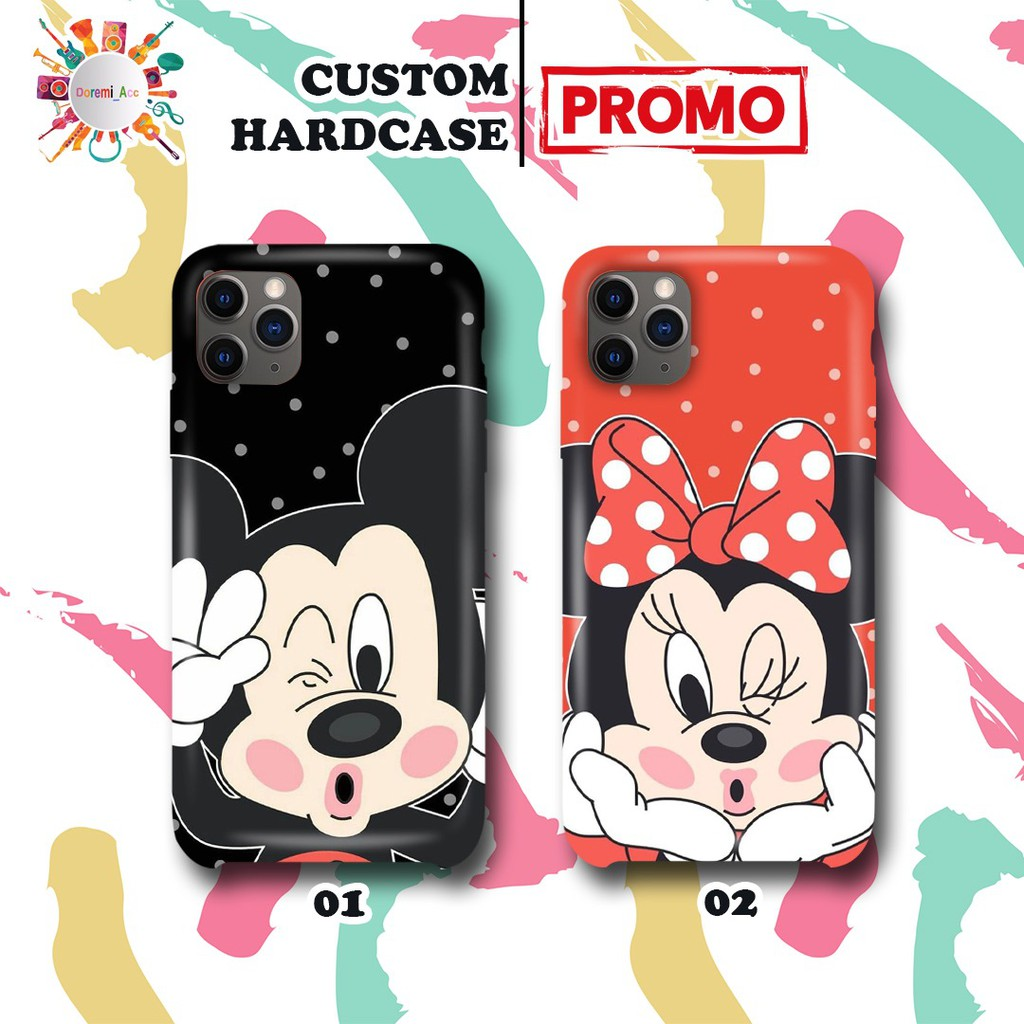 Case Casing Hardcase Silikon Gambar Mickey Mouse Dan Minnie Mouse Asus Lenovo Sony Huawei All Type Shopee Indonesia