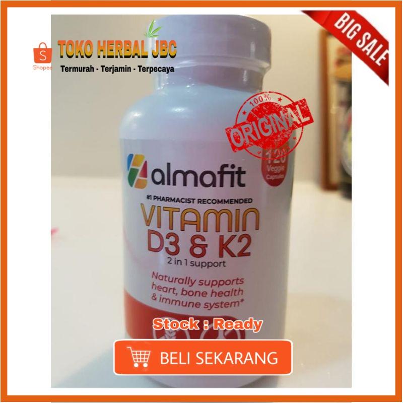 Original Almafit Vitamin D3 5000 Iu + K2 90 Mcg Jantung Tulang Imunitas Asli