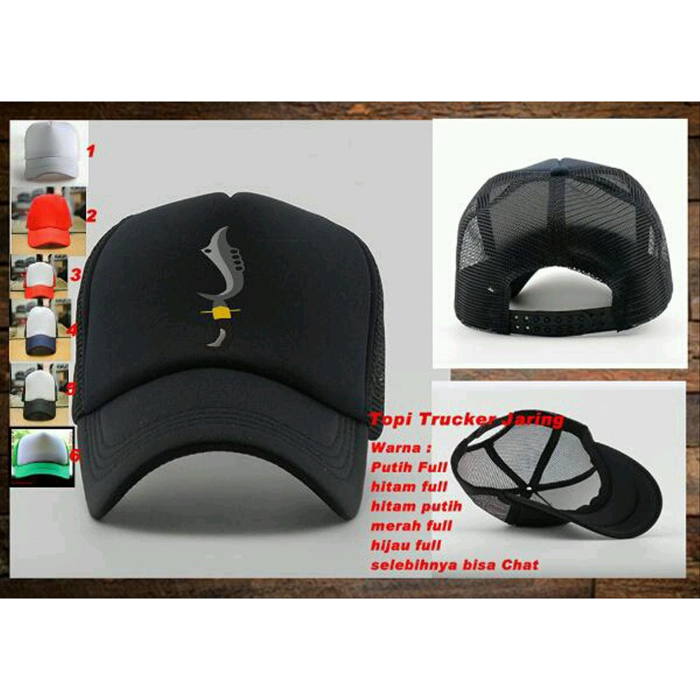 Dijual Topi Trucker Jaring Logo Kujang Sunda Sls207 Keren Gaul Ready Stok Siluet Store Limited