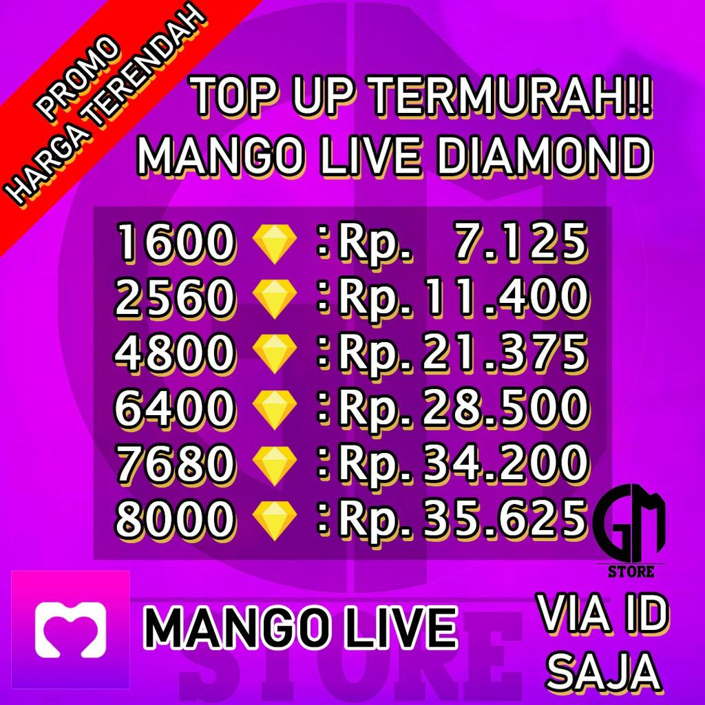 TOP UP MANGO LIVE 1600 - 8000 DIAMOND TOPUP MANGOLIVE UNGU PALING MURAH (1)