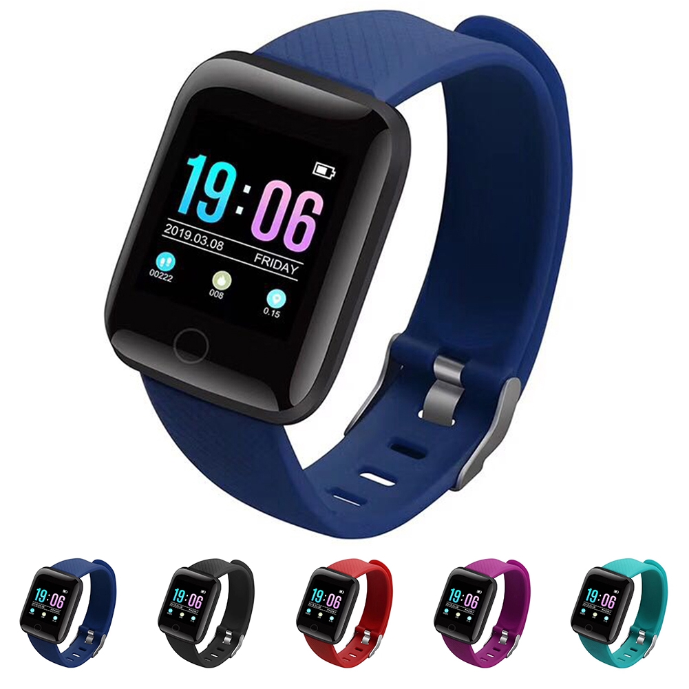 116 Plus Message Push Multi-language Oxygen Dynamic Step Count Blood Pressure Fashion Smart Watch