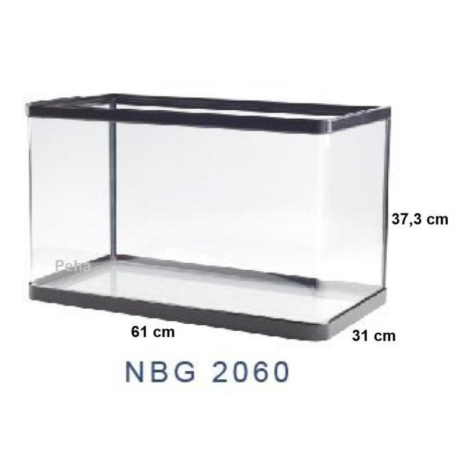 Produk Unggulan] Aquarium Ikan - Akuarium Nisso Jepang Manta - Kaca Lengkung Nbg 2060
