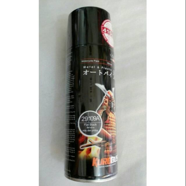 Samurai paint hitam doff 109A cat semprot aerosol Orisinil samurai   Shopee Indonesia