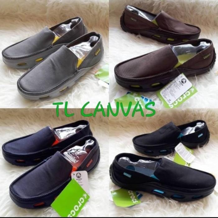 Crocs tideline sport canvas / sepatu crocs / crocs ori   Shopee Indonesia