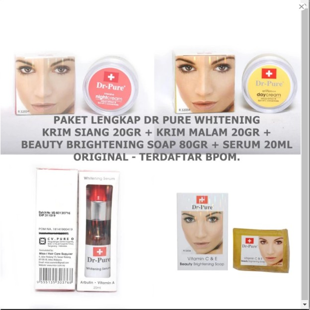 Paket Collagen Pencerah Wajah Original.Cream Siang Cream Malam .Sabun Plus Toner Vit E | Shopee Indonesia