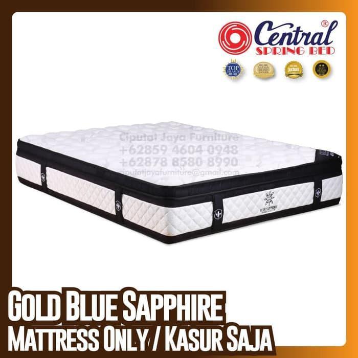 [ Perabot } 193E2507 Central New Gold Blue Sapphire - SpringBed - Ukuran 120 x 200 cm Furniture