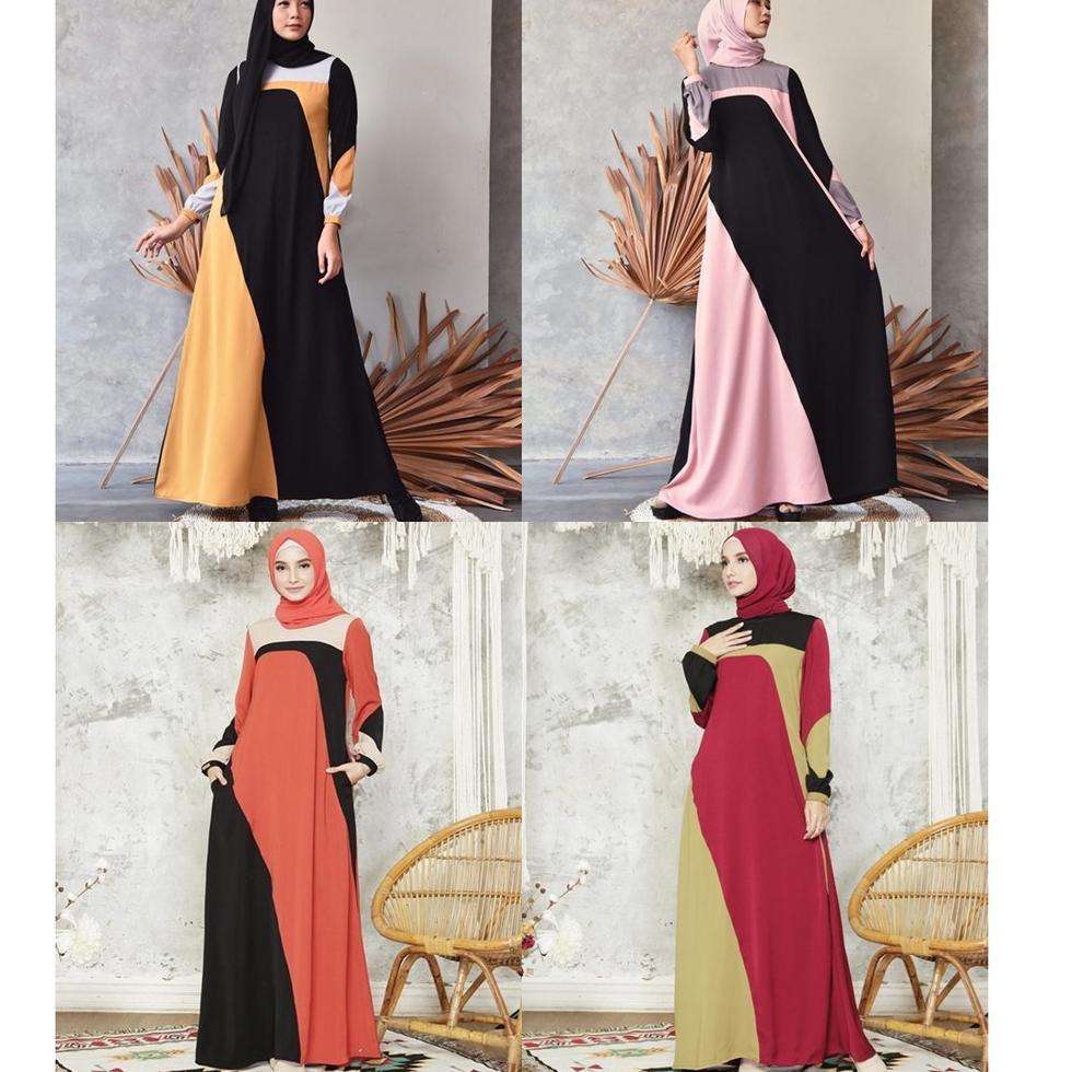 Kanaya Dress by Zalifa Exclusive Collection - Baju Muslim Wanita - Gamis (KODE 9480)