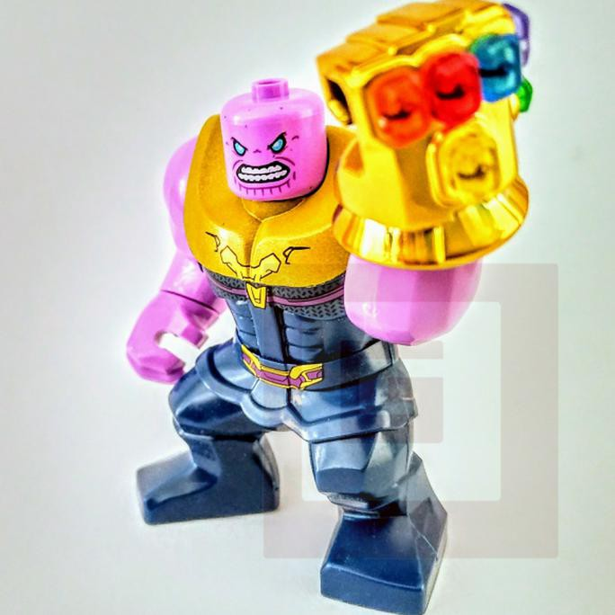 Gratis Ongkir Marvel Avengers Thanos Gold Chrome Infinity Stone Gauntlet War Lego Kw Fg52 Shopee Indonesia