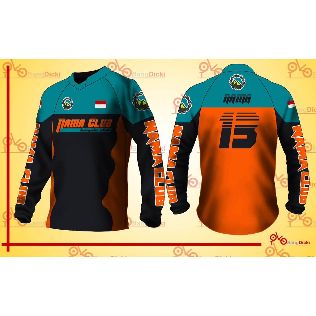 Hot Jersey Sepeda Costum Dengan Desain Sendiri Dan Bisa Pakai Nama Langsung Premium Quality