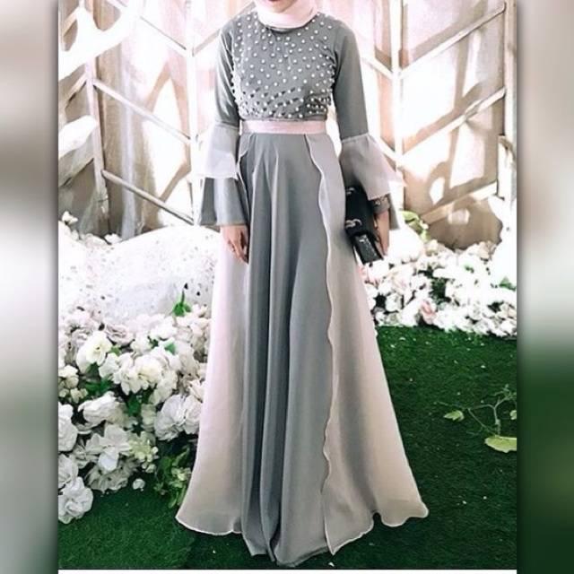 Fashion Wanita Baju Dress Pesta Party Organza Premium Shopee Indonesia
