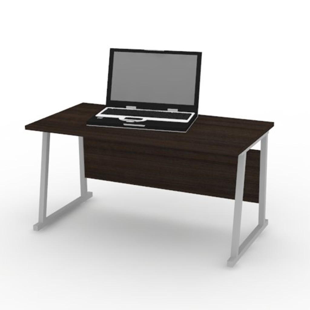 Meja Komputer Computer Desk Silver Walnut Ldc6239 Shopee Indonesia