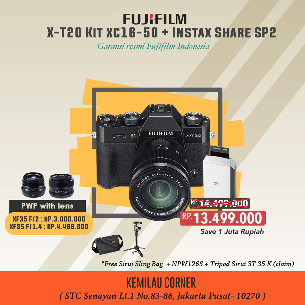 Fujifilm X100f Instax Share Sp 2 Silver Shopee Indonesia X Pro2 Xf35mm F 20 R Wr Black Xf56mm F12
