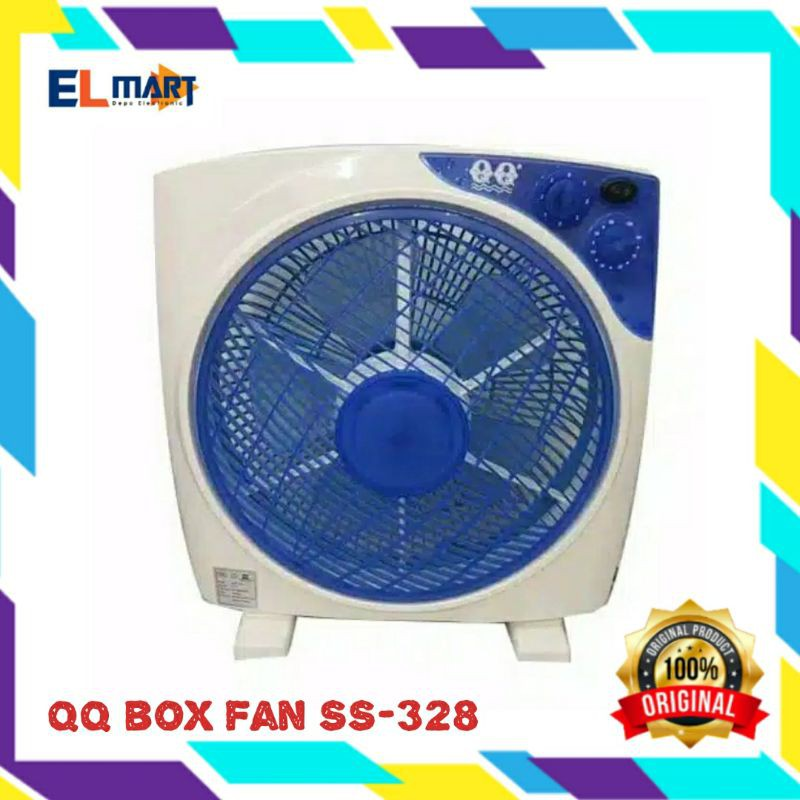 Qq Box Fan Ss 328 Kipas Angin Kotak Kioas Angin Duduk Murah Shopee Indonesia