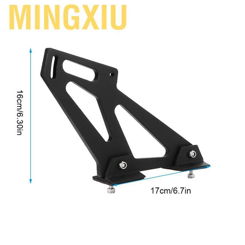 Qii lu Car Rear Wing Trunk Racing Tail Spoiler Legs Mount Brackets Universal CNC Aluminum Alloy Black
