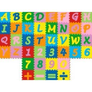 Karpet Evamat Abjad Puzzle Mini / Angka dan simbol / Alas bermain Anak   Shopee Indonesia