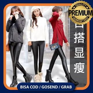 Celana Legging Musim Dingin Salju Leather Leging Wanita Winter Thermal Tebal Hangat Bahan Kulit 004 Shopee Indonesia