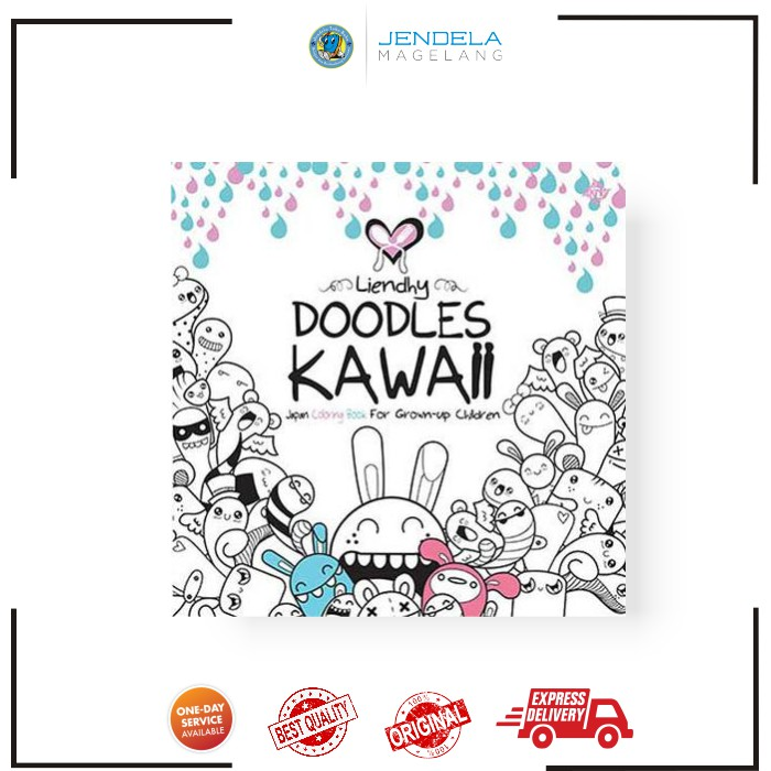 Doodles Kawaii Japan Coloring Book For Grown Up Children Shopee Indonesia