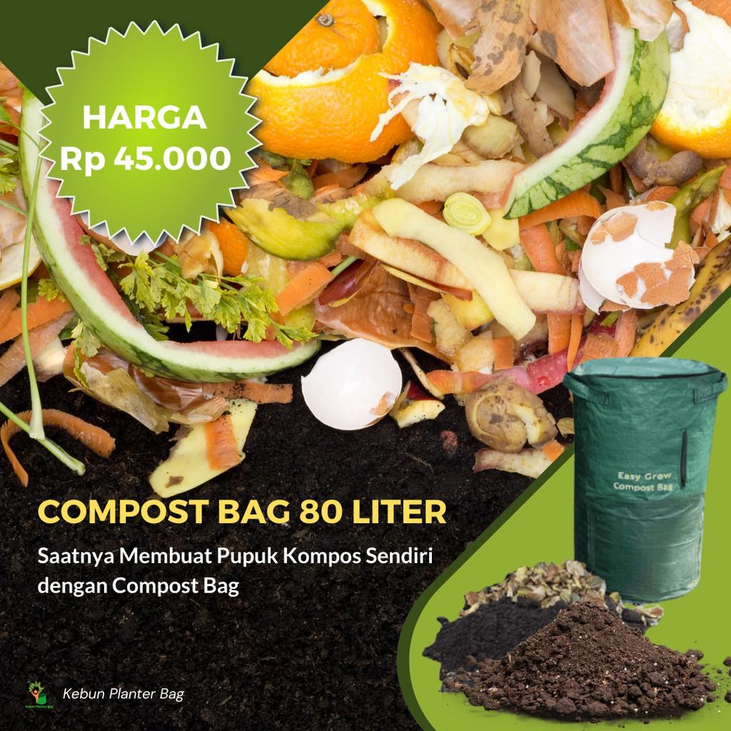 Tas Kompos Easy Grow 80 Liter Olah Limbah Daun Organik Compos Bag Shopee Indonesia