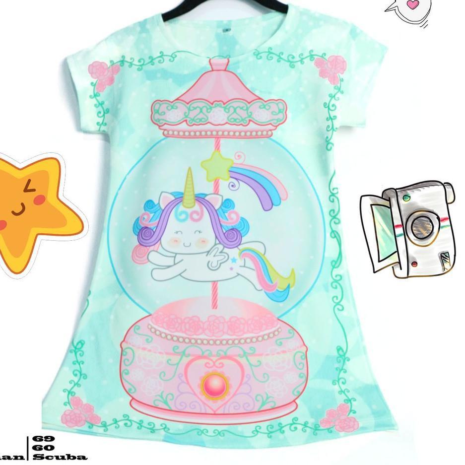 SALE PROMO TERBARU Fb 352 Dress Anak Karakter Pony Lucu