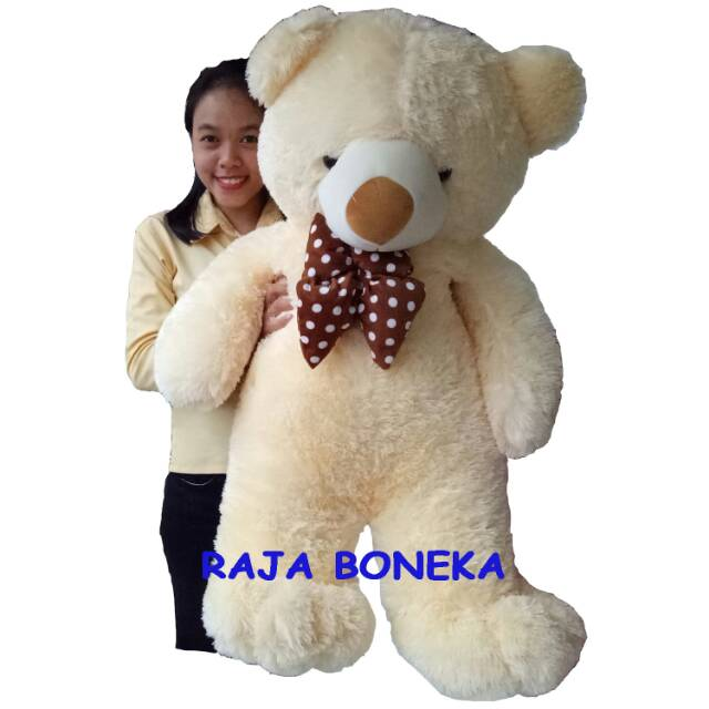 Boneka beruang SUPER BIG JUMBO 150 CM CREAM setinggi orang dewasa TERMURAH  !!!  f049177123