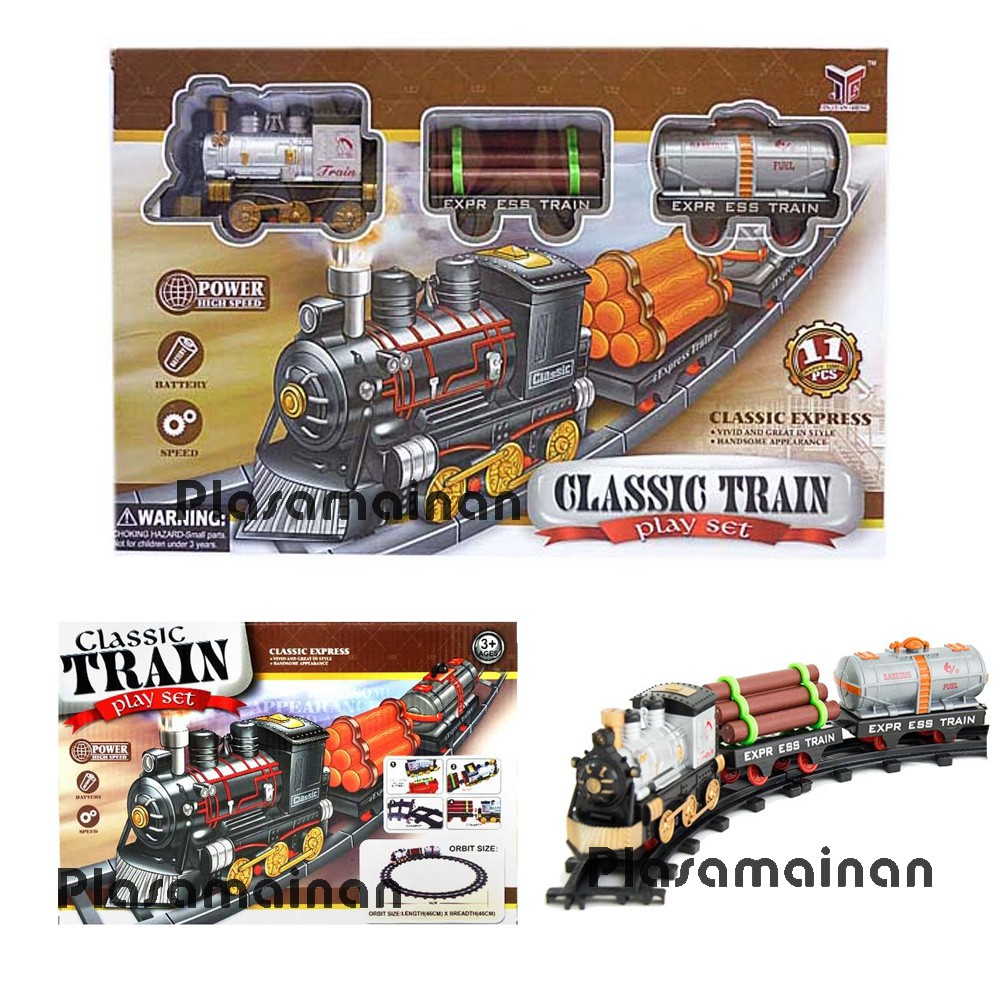 Momo Toys Classic Express Cartoon Train Track World 266b 2 Mainan Otoys Kereta Api Pa 8670 Intelligent Classical Set Loco Plus Rail Klasik King