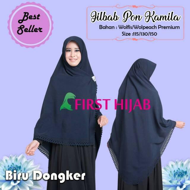 Jilbab Pon Jipon Segi Empat Pon Syar I Shopee Indonesia