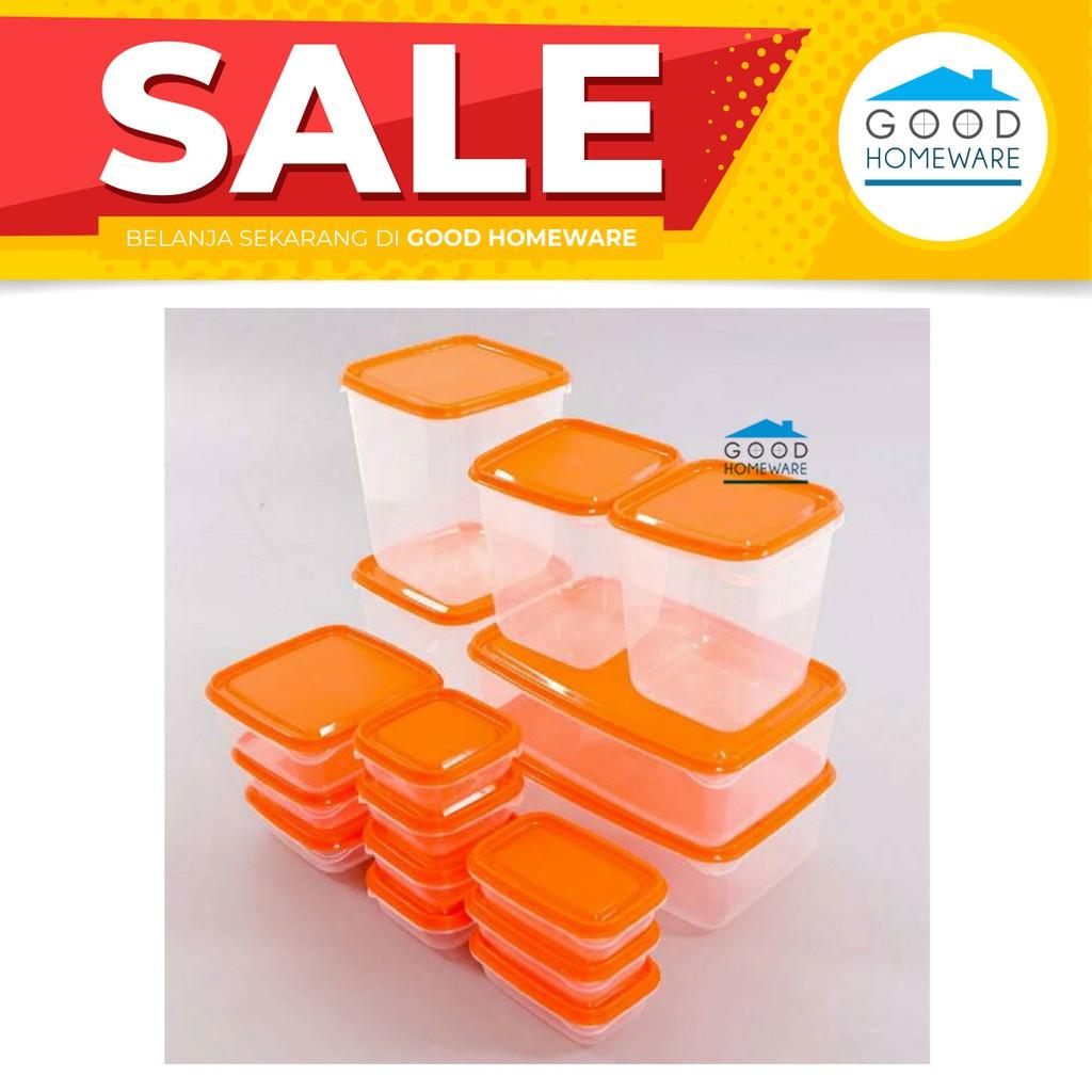 Jepitan Makanan Ikea Shopee Indonesia Pruta Tempat Kontainer Isi 17pc Orange