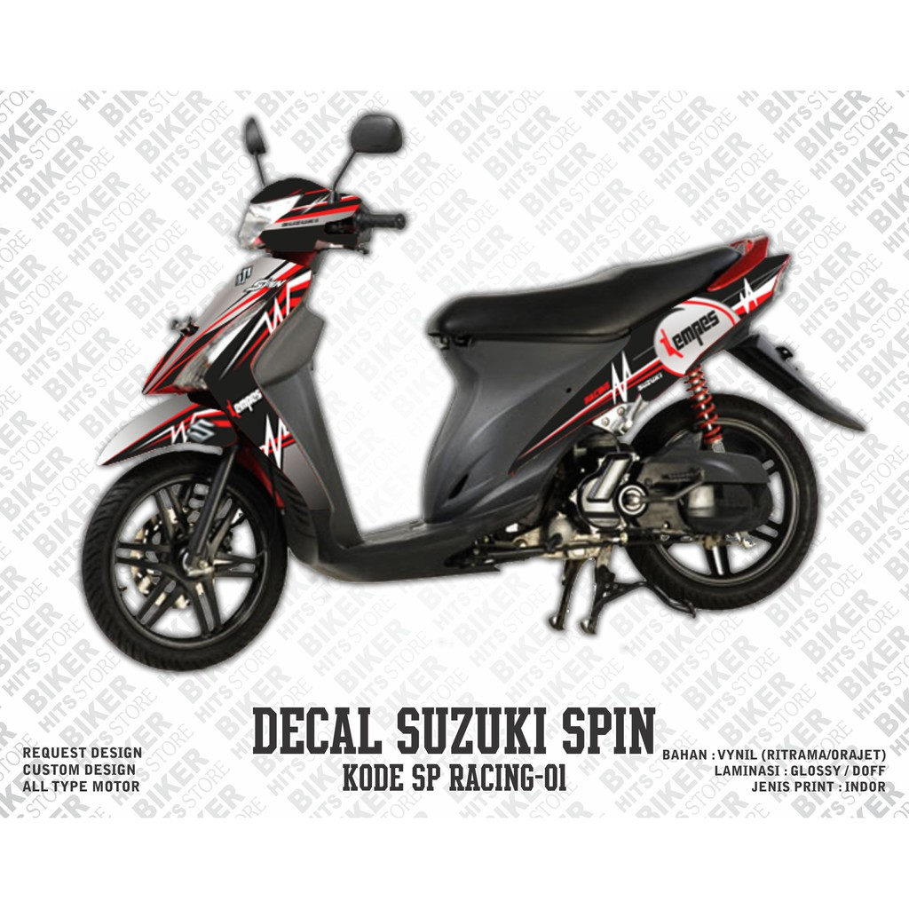 Decal stiker striping variasi suzuki spin racing shopee indonesia