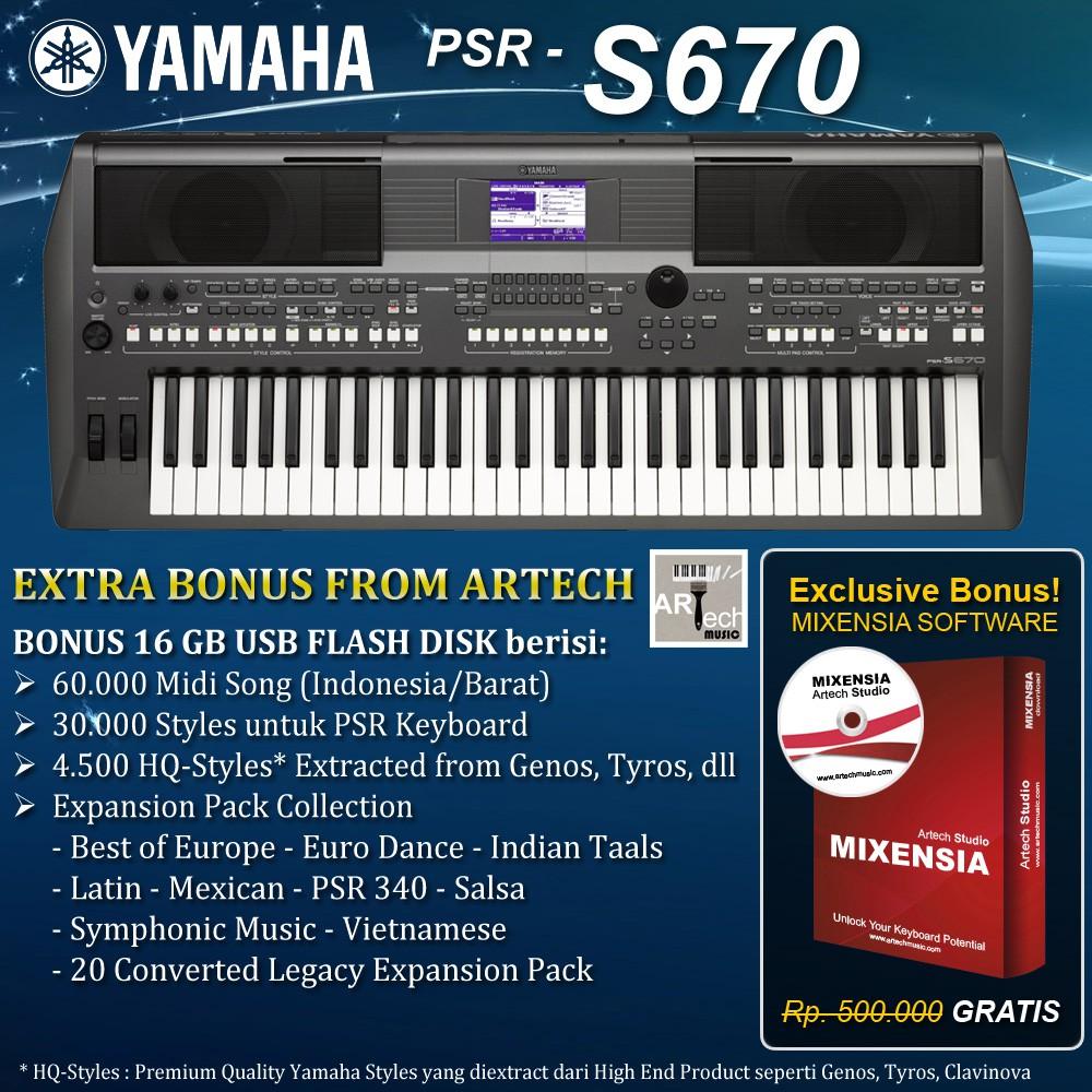 Keyboard Yamaha PSR S670 / PSRS670 / PSR-S670 Garansi Resmi Yamaha Indonesia