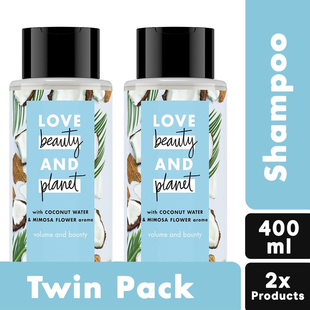 Love Beauty Planet Shampoo Coconut Water & Mimosa Flower 400 ml Twinpack