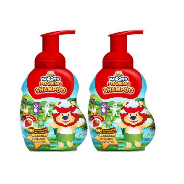 Kodomo Shampoo Foam Strawberry 250 ml - 2 Pcs-2